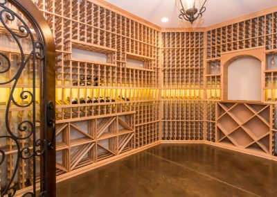 Loyd Builders North Raleigh Mediterranean 026 Wine Cellar