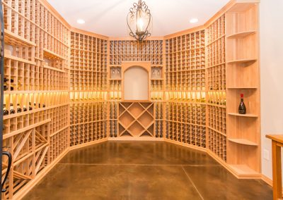 Loyd Builders North Raleigh Mediterranean 027 Wine Cellar