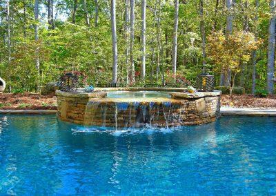 Loyd Builders Pleasant Green Farms 034 Pool Waterfall