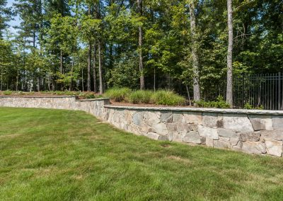 Loyd Builders Chatham County Estate 074 071 Landscaping Wall