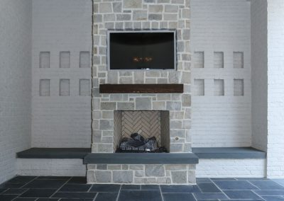 Loyd Builders MacGregor Downs Lot 252 042 Porch Fireplace